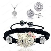 Hello Kitty Fashion Shamballa Sets Shamballa Bracelet SET